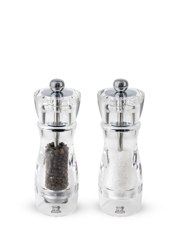 Duo de moulins à poivre et à sel manuels en acryl H16cm
