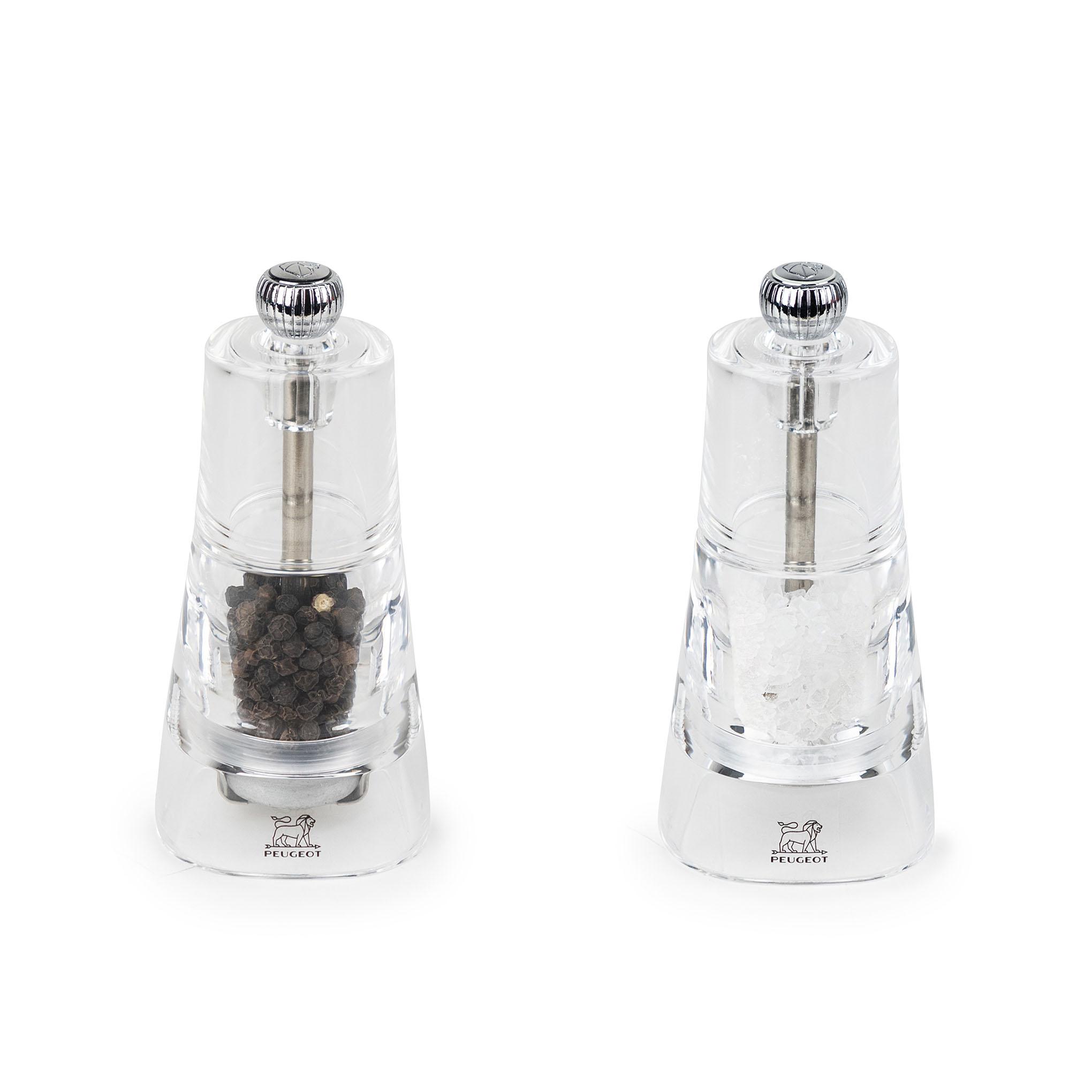 Duo de Moulins à poivre et à sel en acryl H11cm