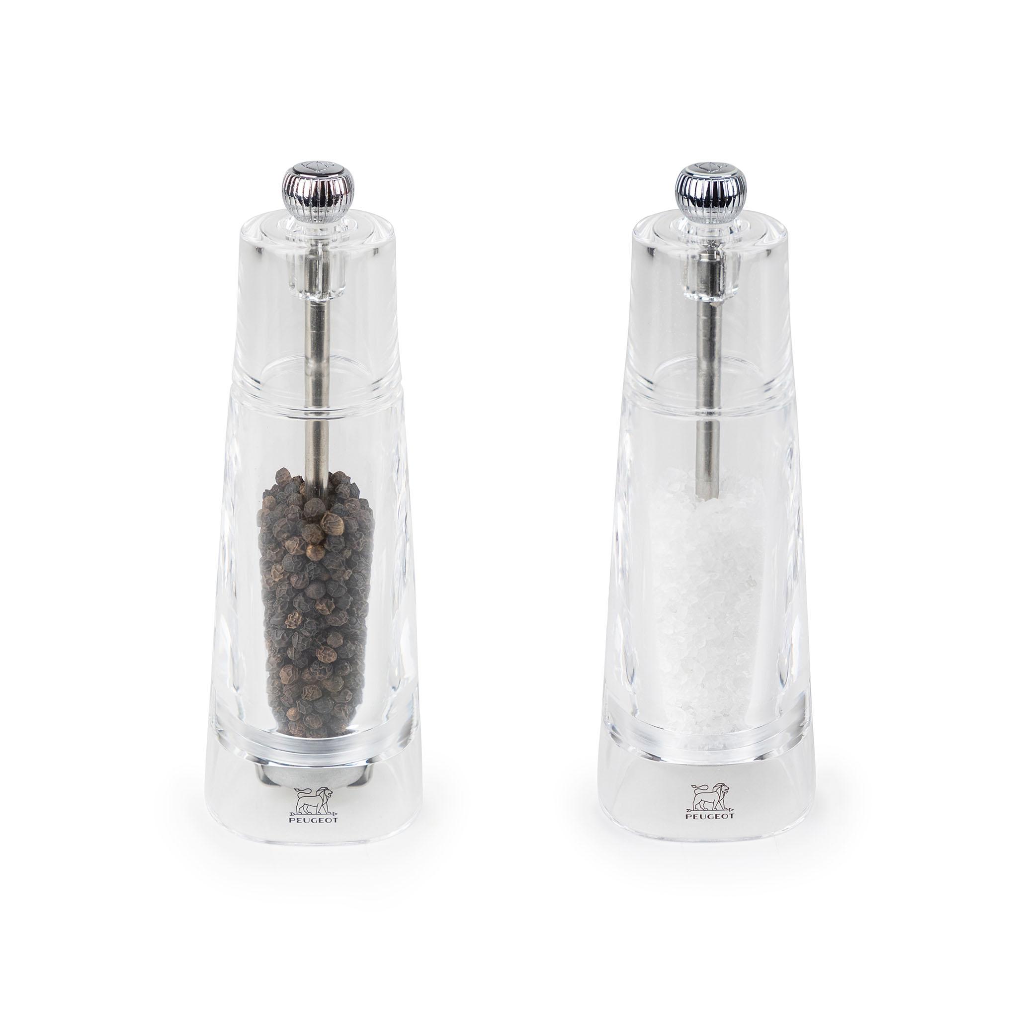 Duo de Moulins à poivre et à sel en acryl H16cm
