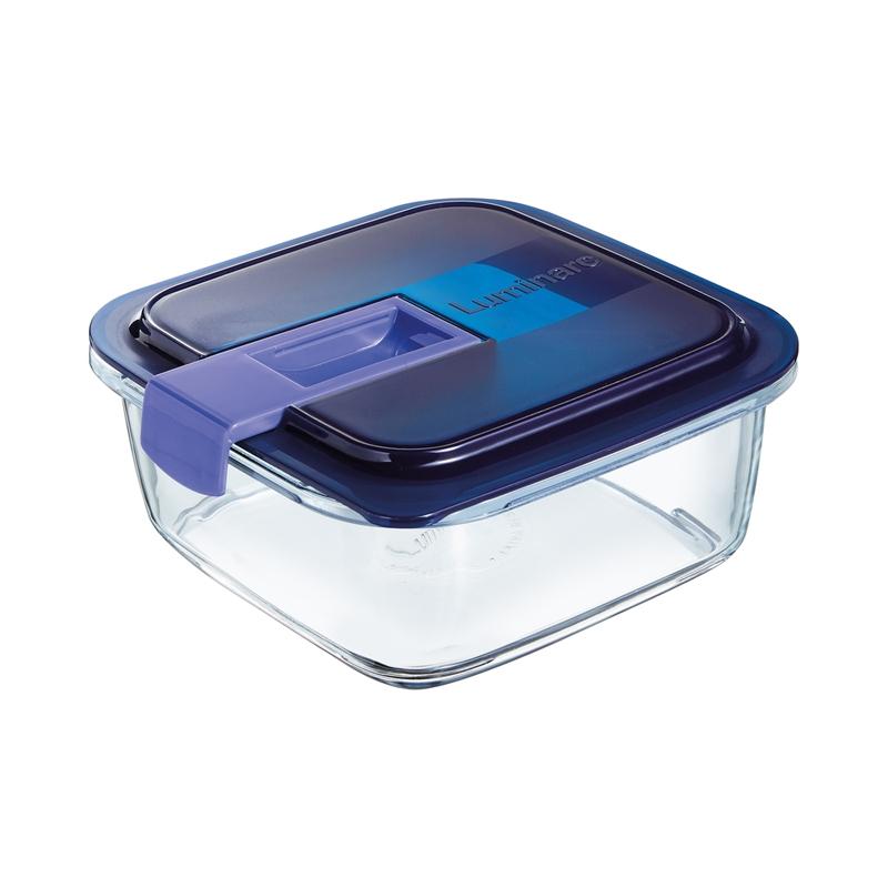 Boîte carrée bleue 76cl