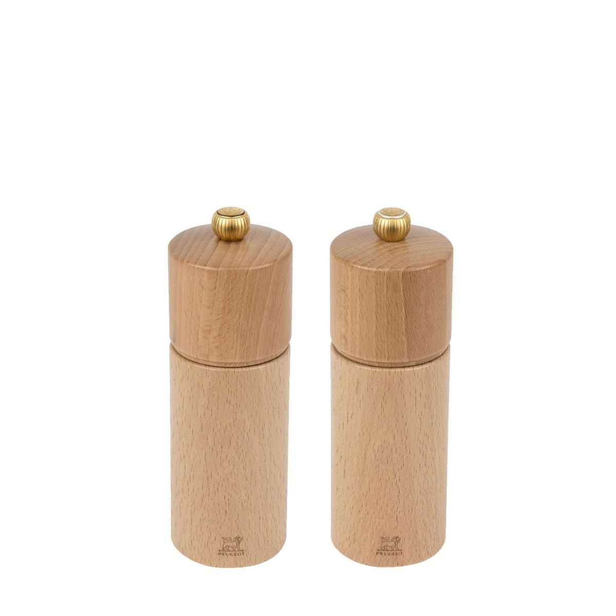 Duo de moulin à poivre et sel naturel H16cm
