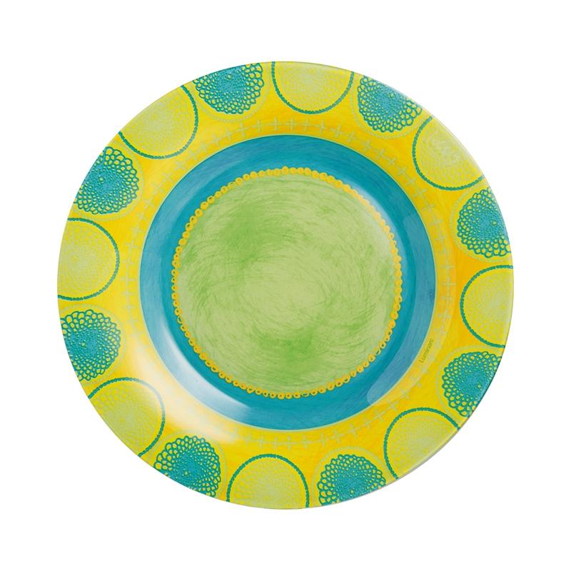 Assiette dessert turquoise D19cm