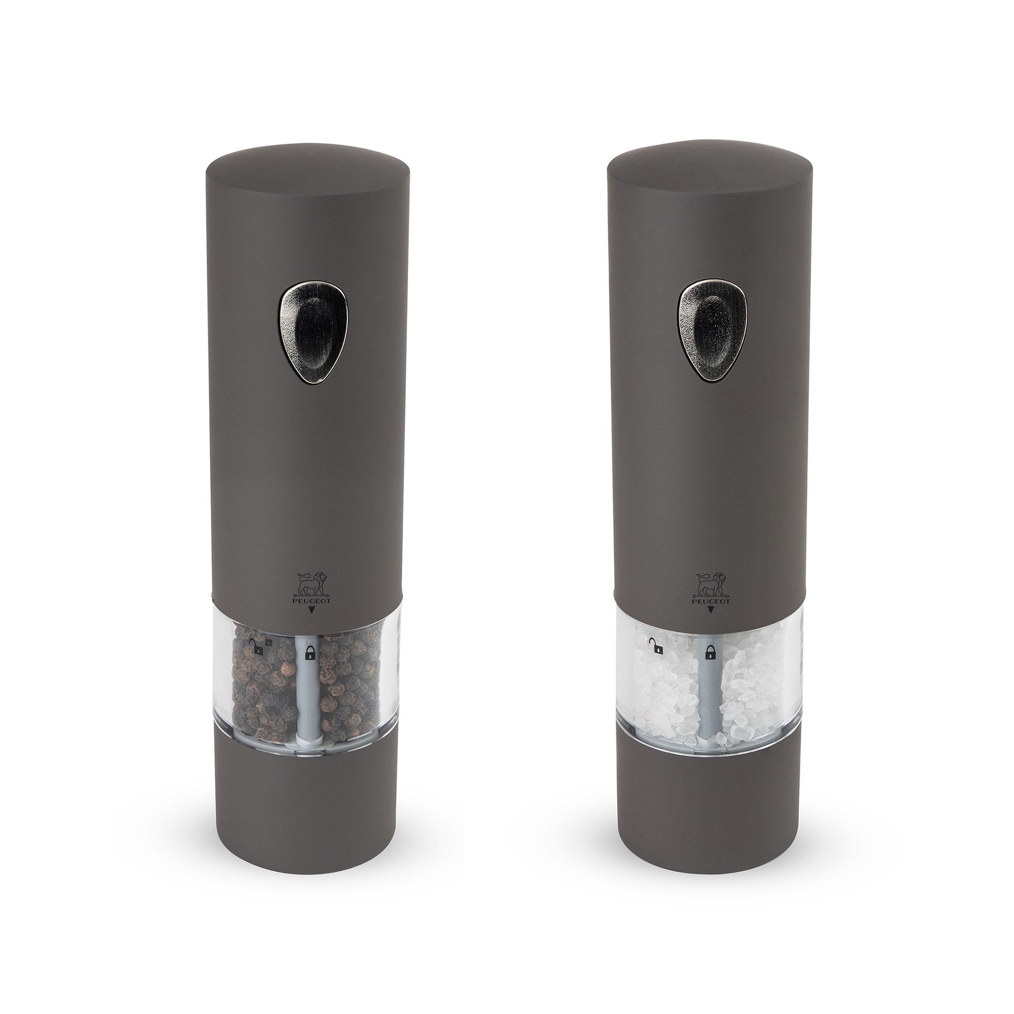 Duo de moulin à poivre et sel électrique basalte H20cm