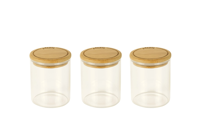 Set de boîtes épices en verre 190ml D6,5x8,5cm