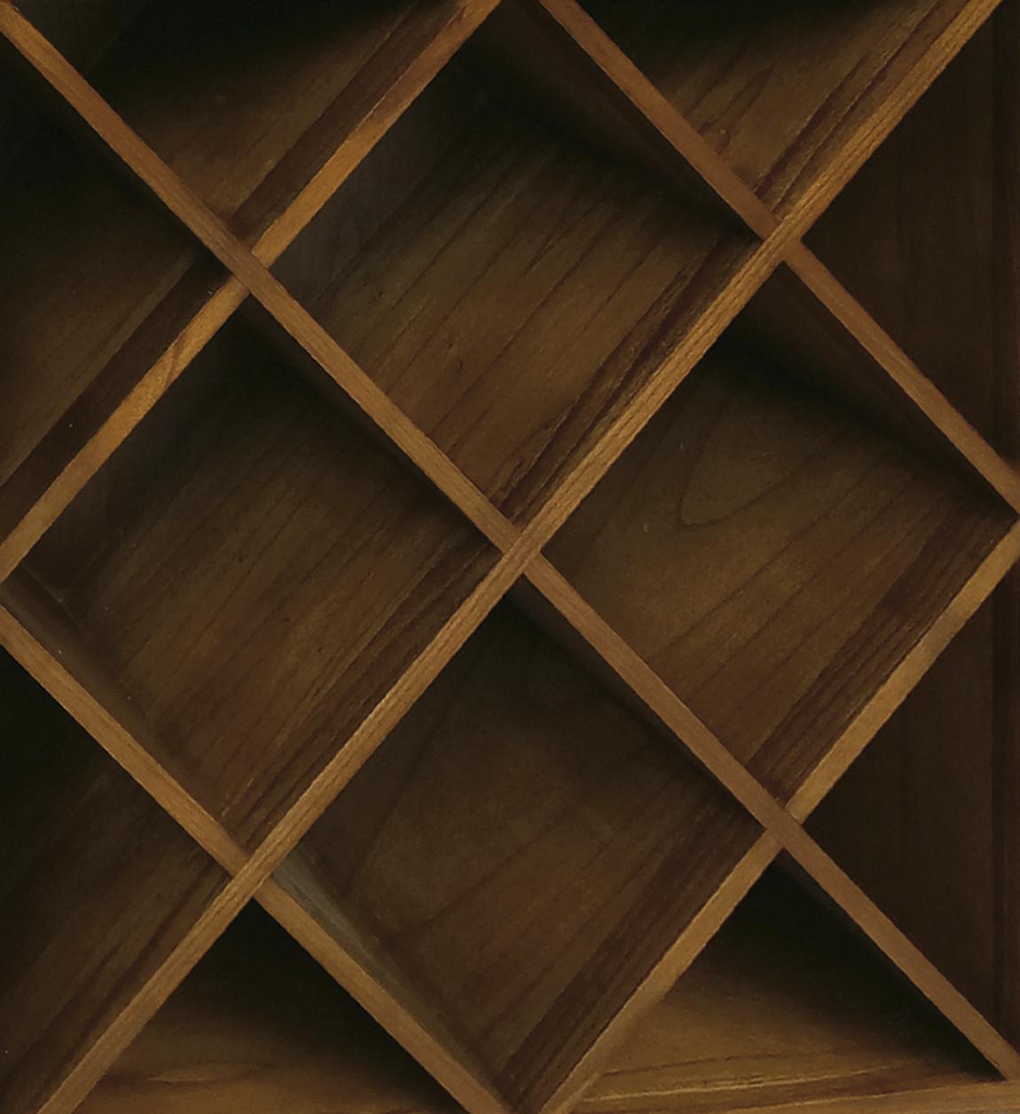 Range bouteille en bois marron