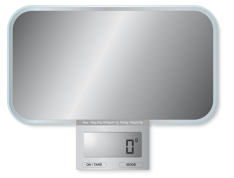 Balance de cuisine électronique miroir 13x23x2cm