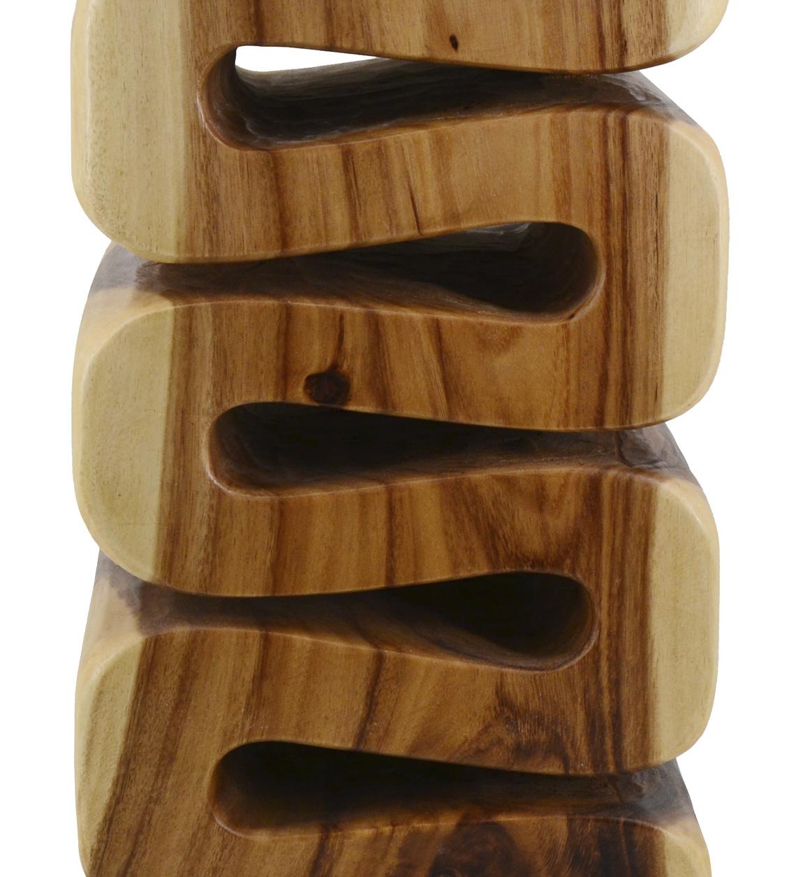 Tabouret carré en bois marron