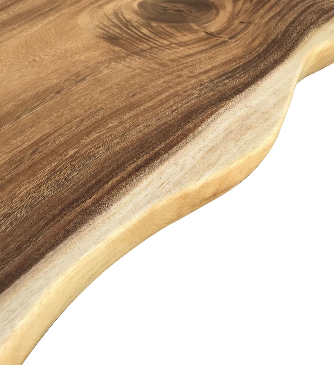 Table basse irrégulière en bois marron L 130 cm