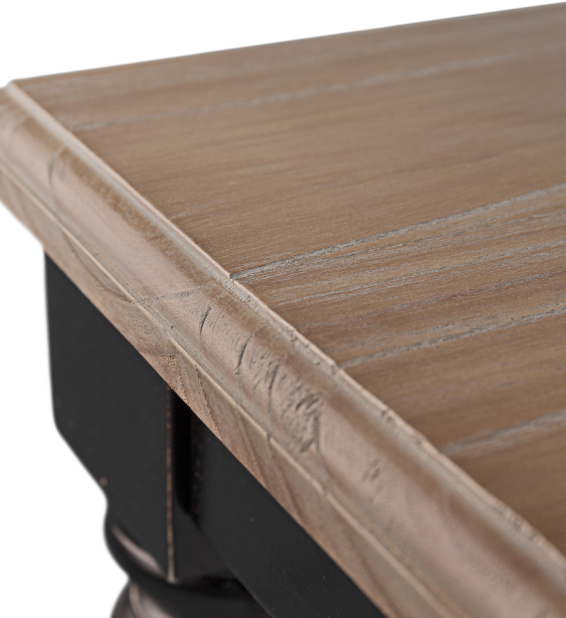 Table  en bois beige et noir L 115 cm
