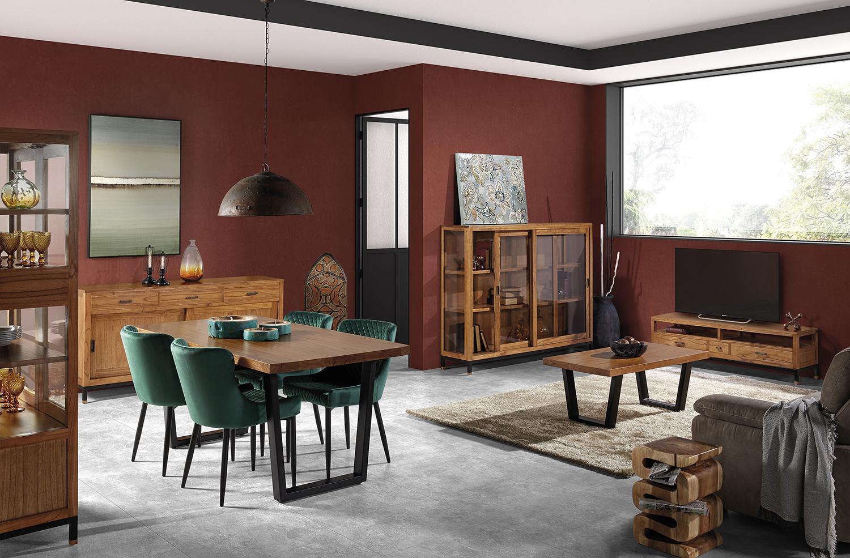 Table basse en bois marron  L 120 cm