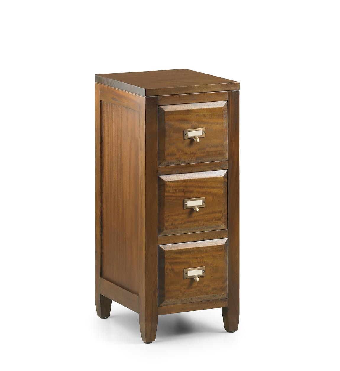 Table de chevet en bois marron L 30 cm