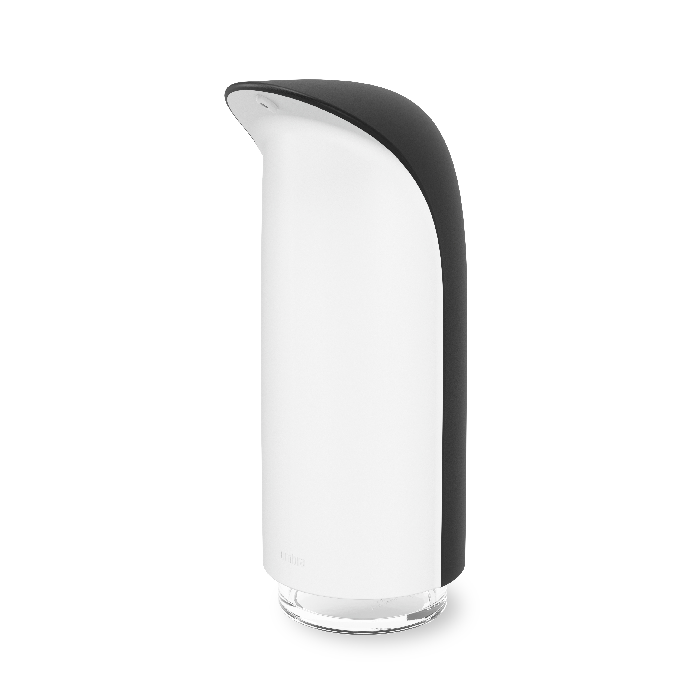 Distributeur à savon et liquide hydroalcoolique 255ml noir et blanc