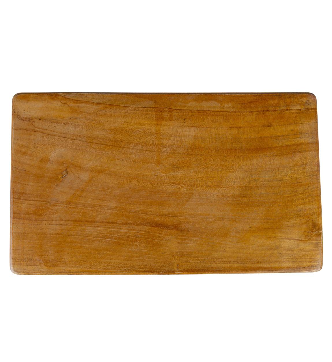 Tabouret en bois marron et noir