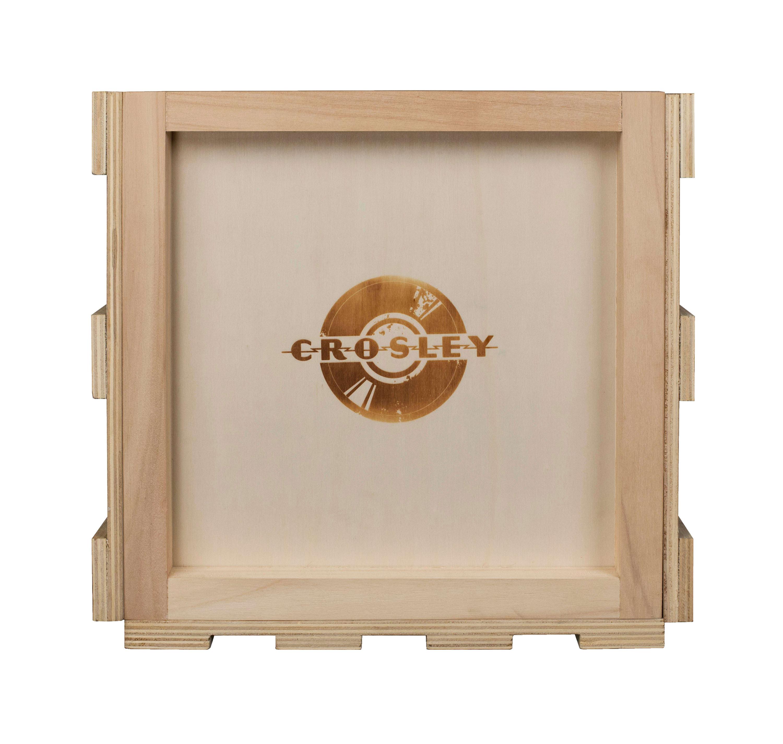Caisse de rangement en bois pour disques vinyle
