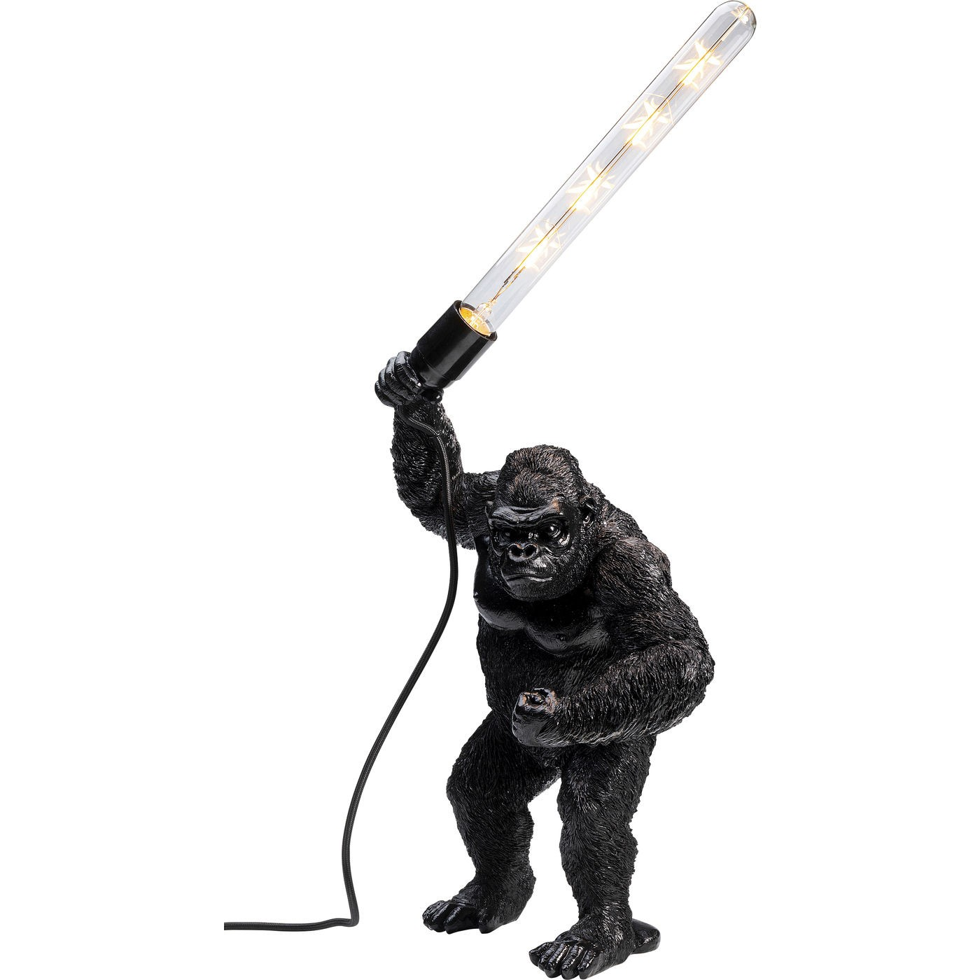 Lampe gorille en polyrésine noire