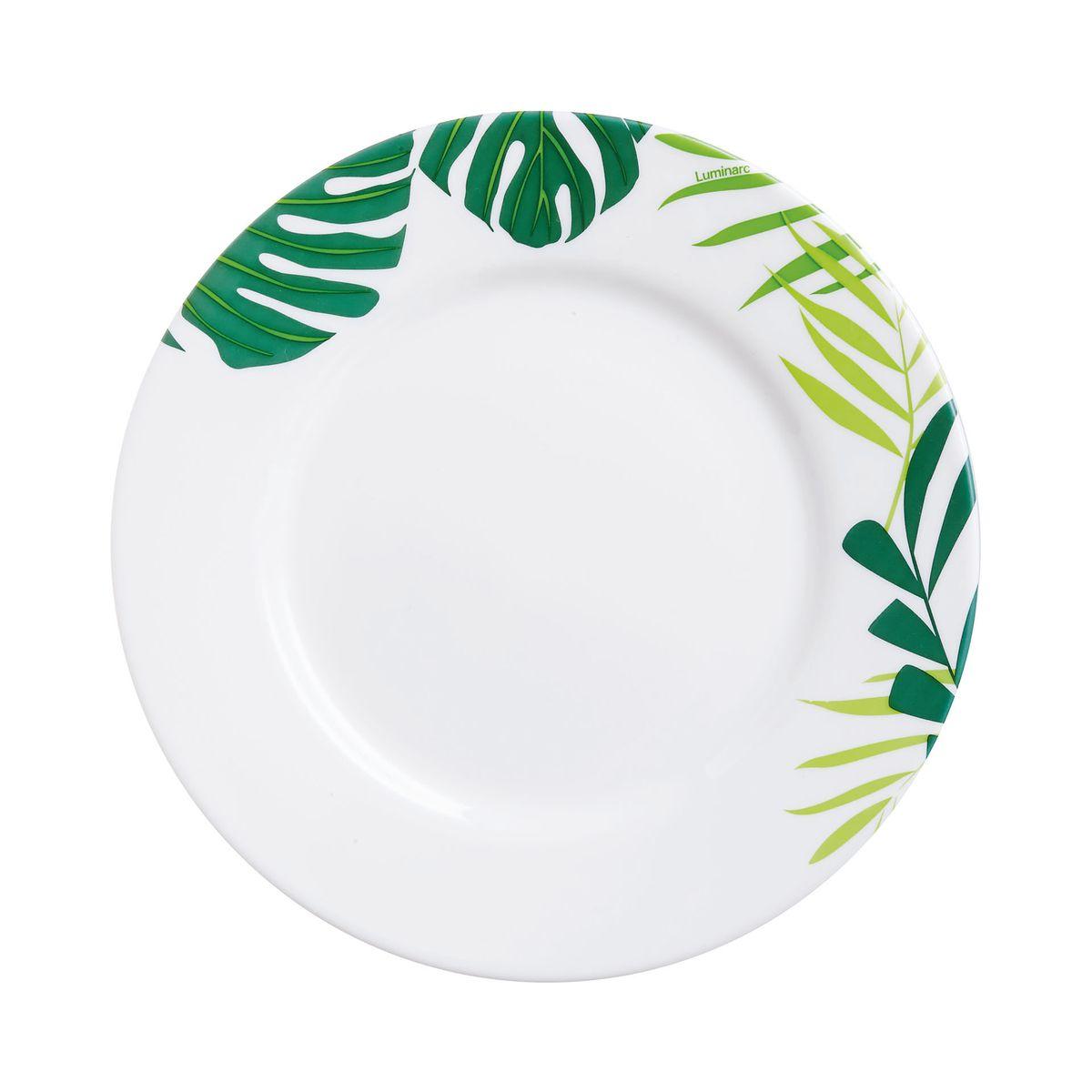 Assiette dessert motifs feuilles d19cm