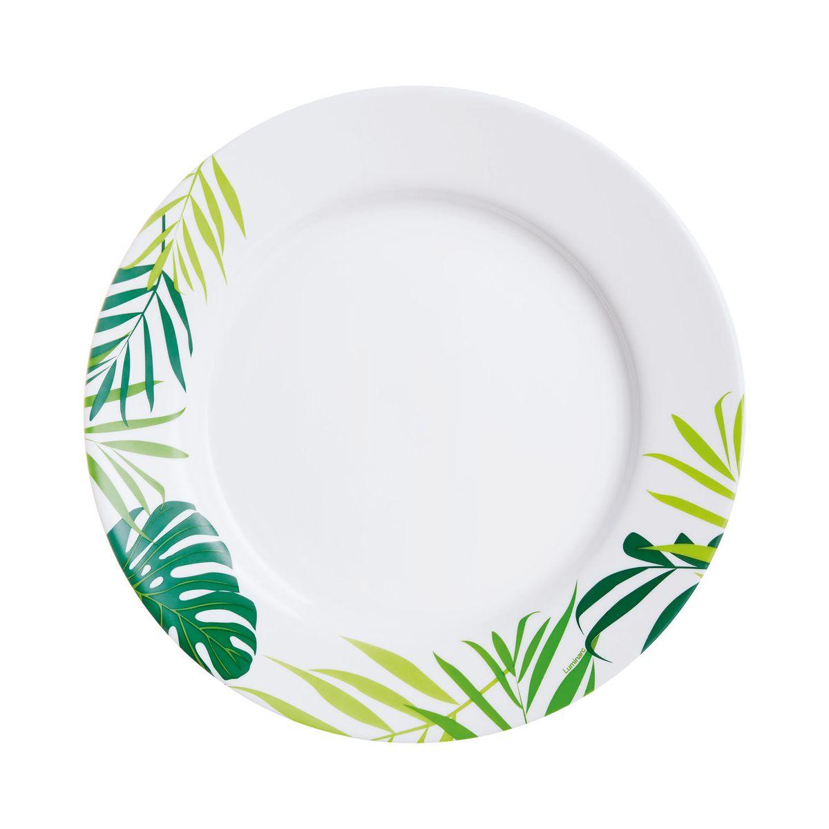Assiette plate motifs feuilles D26,5cm