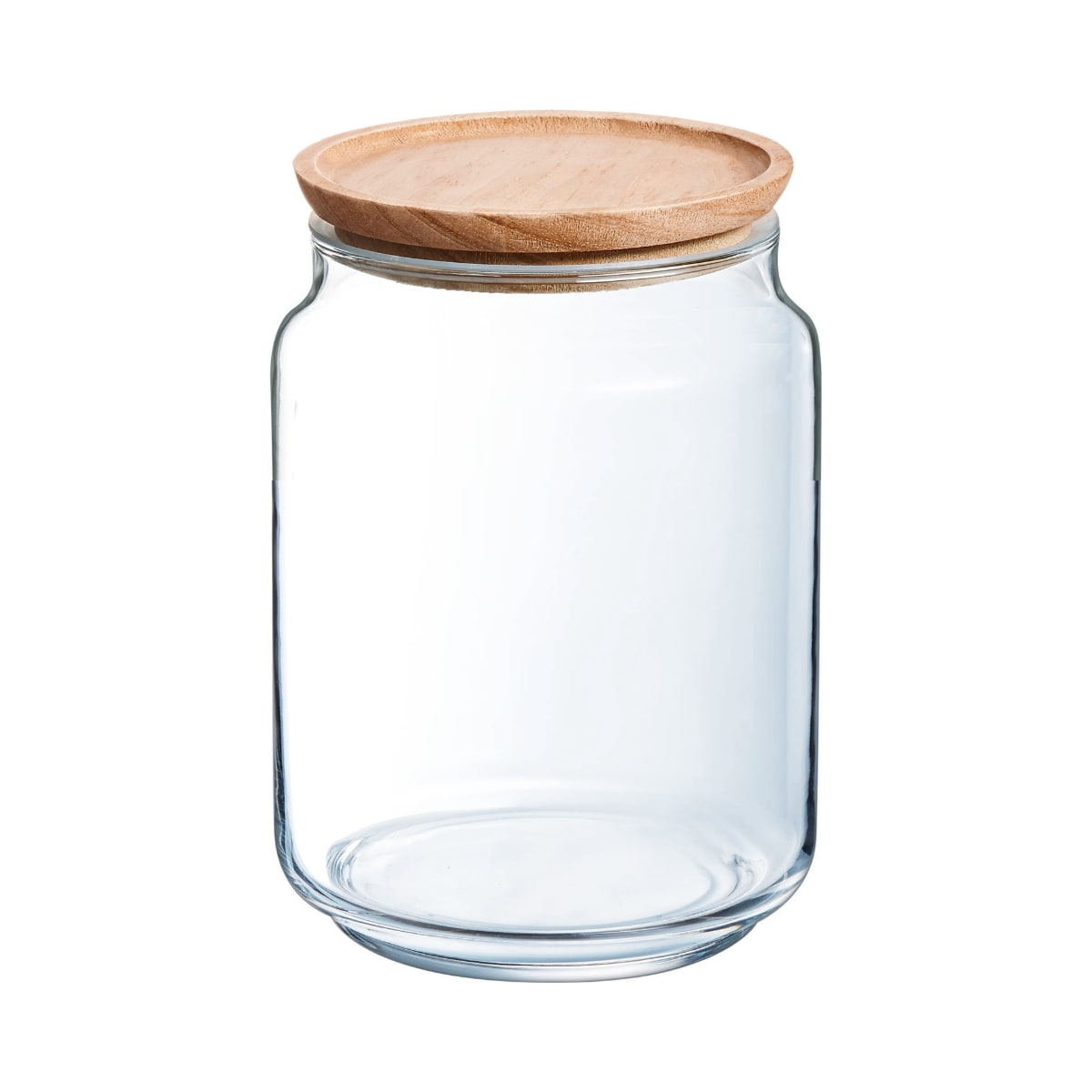 Bocal en verre couvercle bois 2L