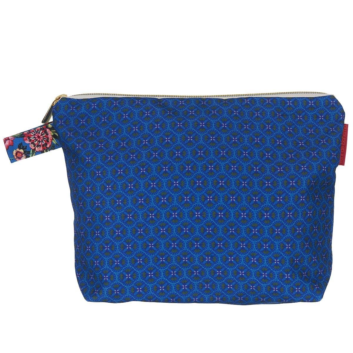 Pochette en toile outdoor imprimé graphique bleu