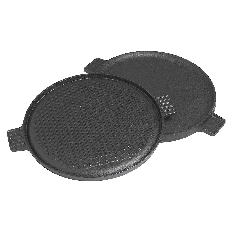 Plancha en fonte pour barbecue à charbon avec 2 faces differents