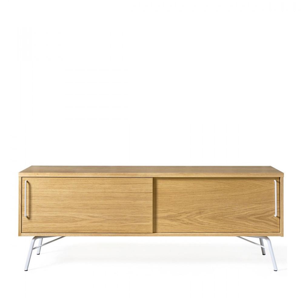 Meuble TV design métal et bois clair