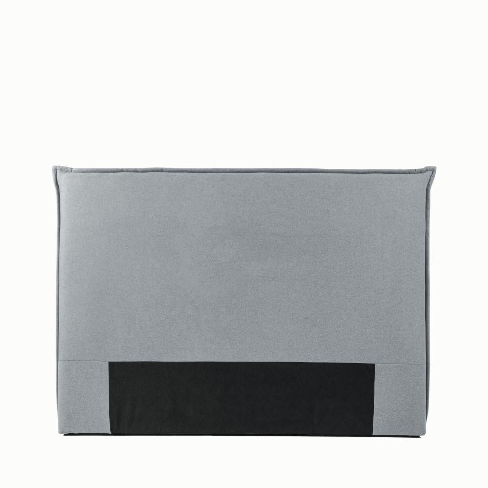 Tête de lit en tissu 150 cm gris