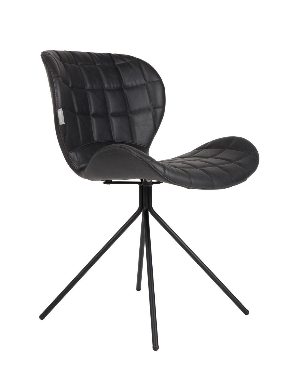 Chaise design aspect cuir noir