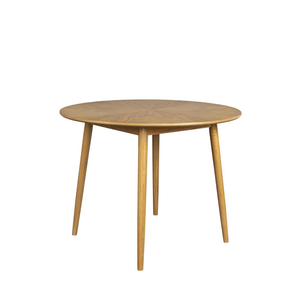 Table à manger ronde en bois D100cm bois clair