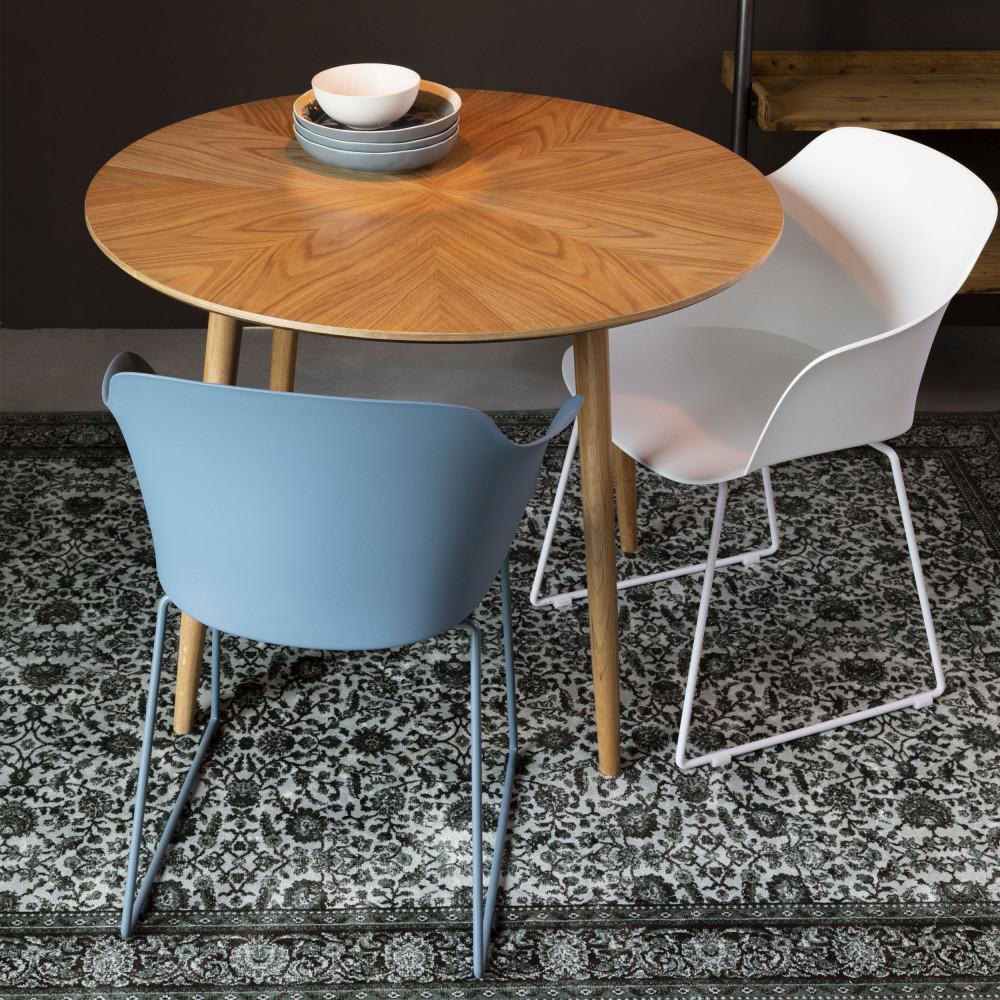 Table design de repas ronde en bois 100 cm