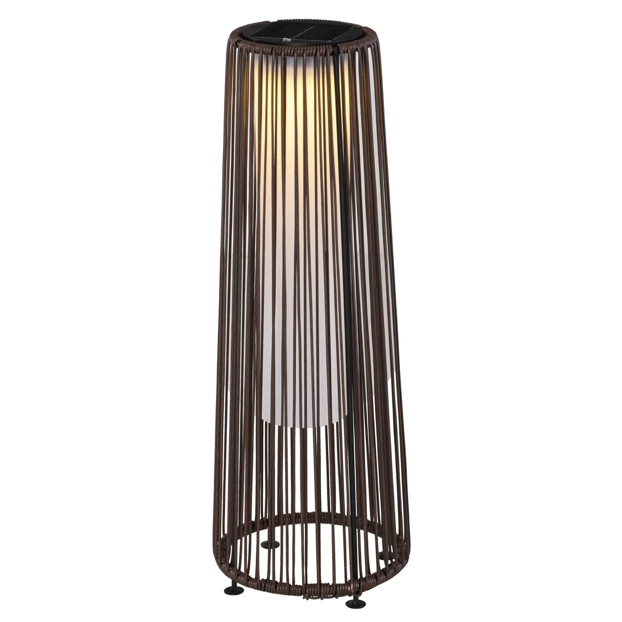 Lampadaire LED de jardin style colonial résine filaire chocolat