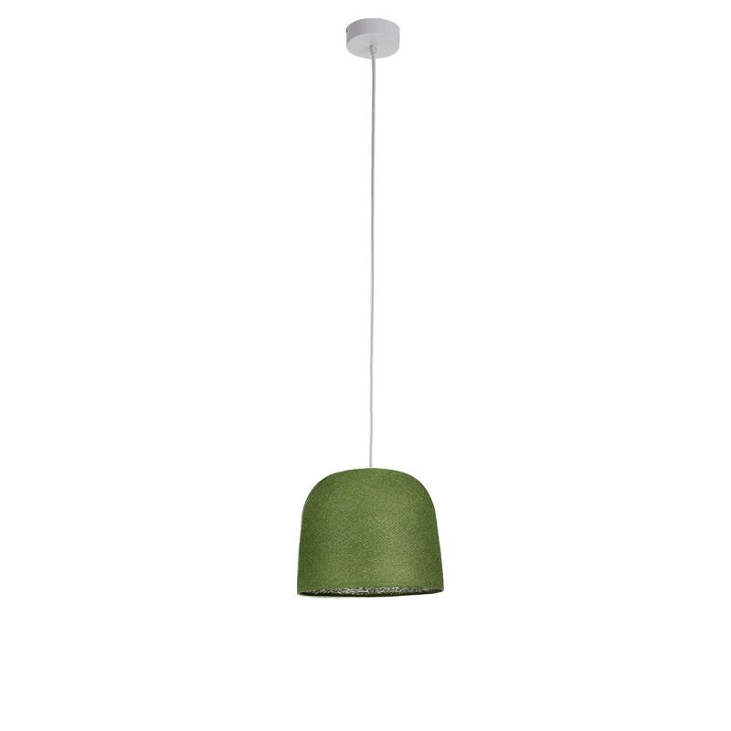 Suspension simple cloche vert olive