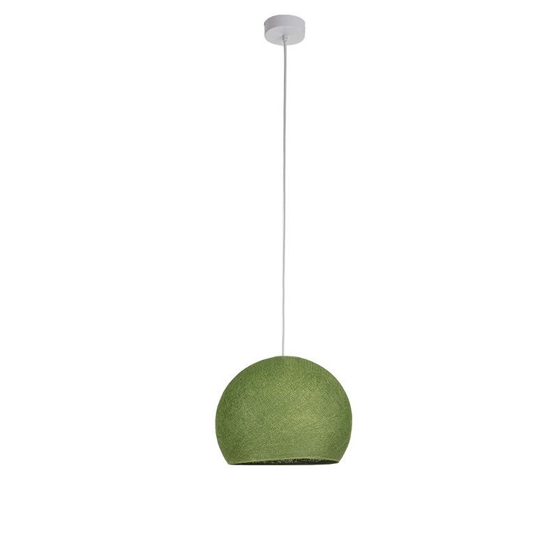 Suspension simple coupole S vert olive