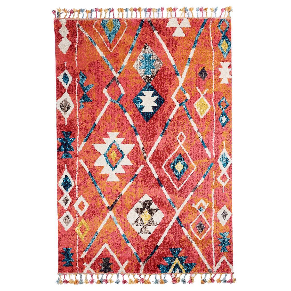 Tapis berbère style en polypropylène multicolore 40x60