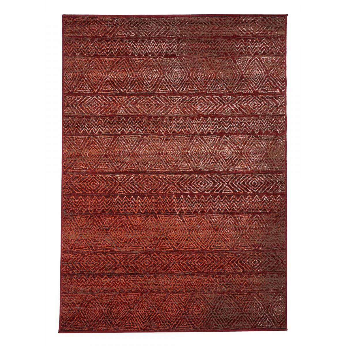 Tapis berbère style en polypropylène rouge 80x150