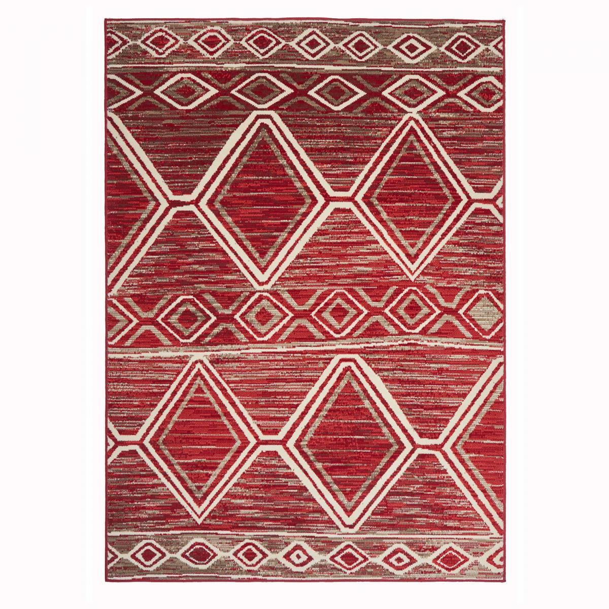 Tapis berbère style en polypropylène rouge 140x200