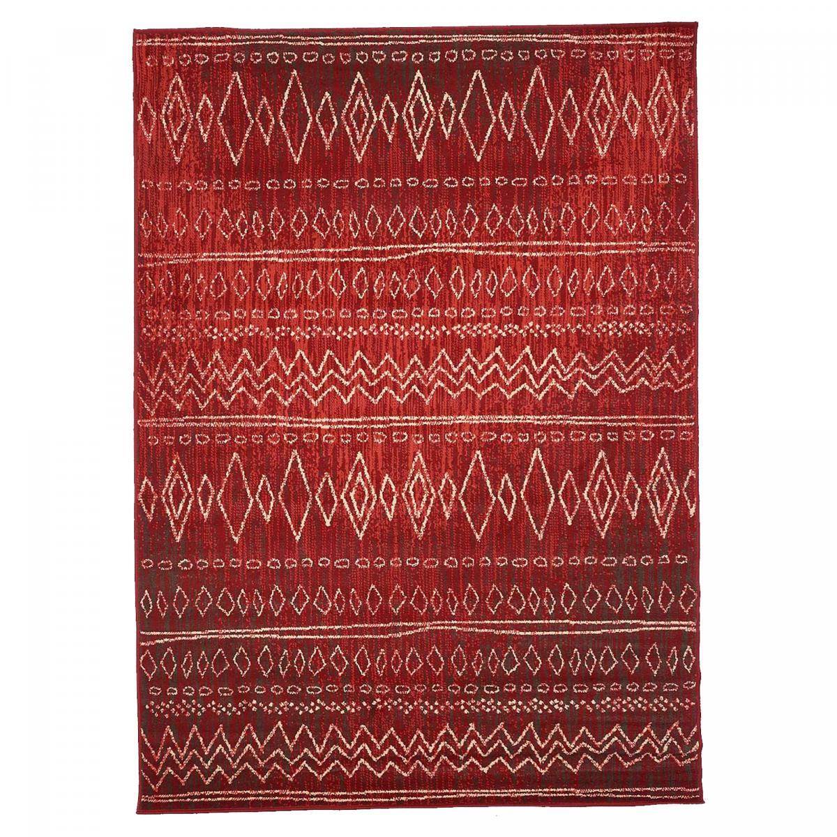 Tapis berbère style en polypropylène rouge 120x170