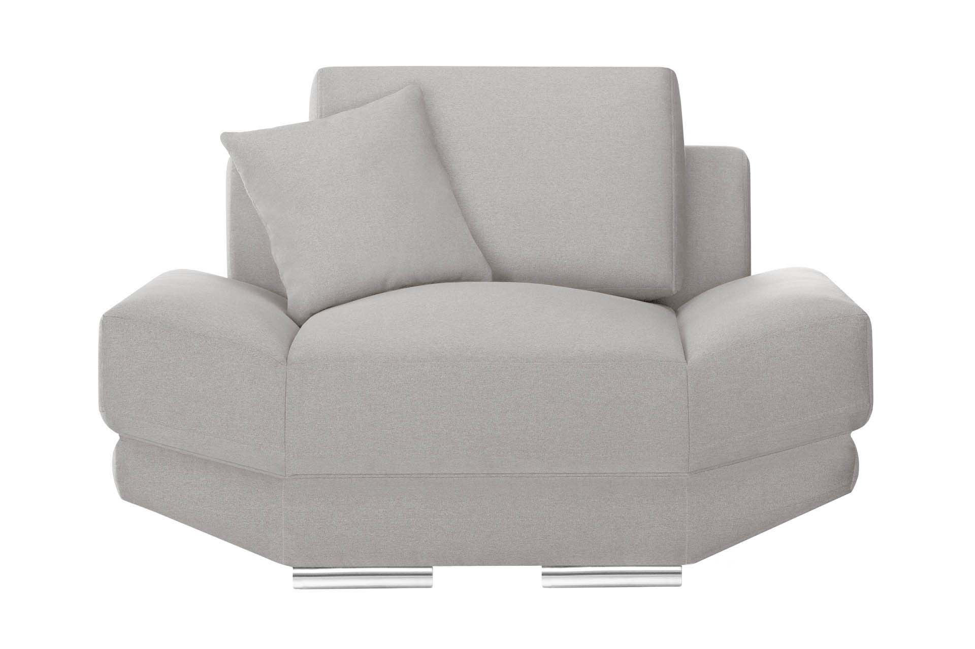 Fauteuil 1 place toucher lin taupe
