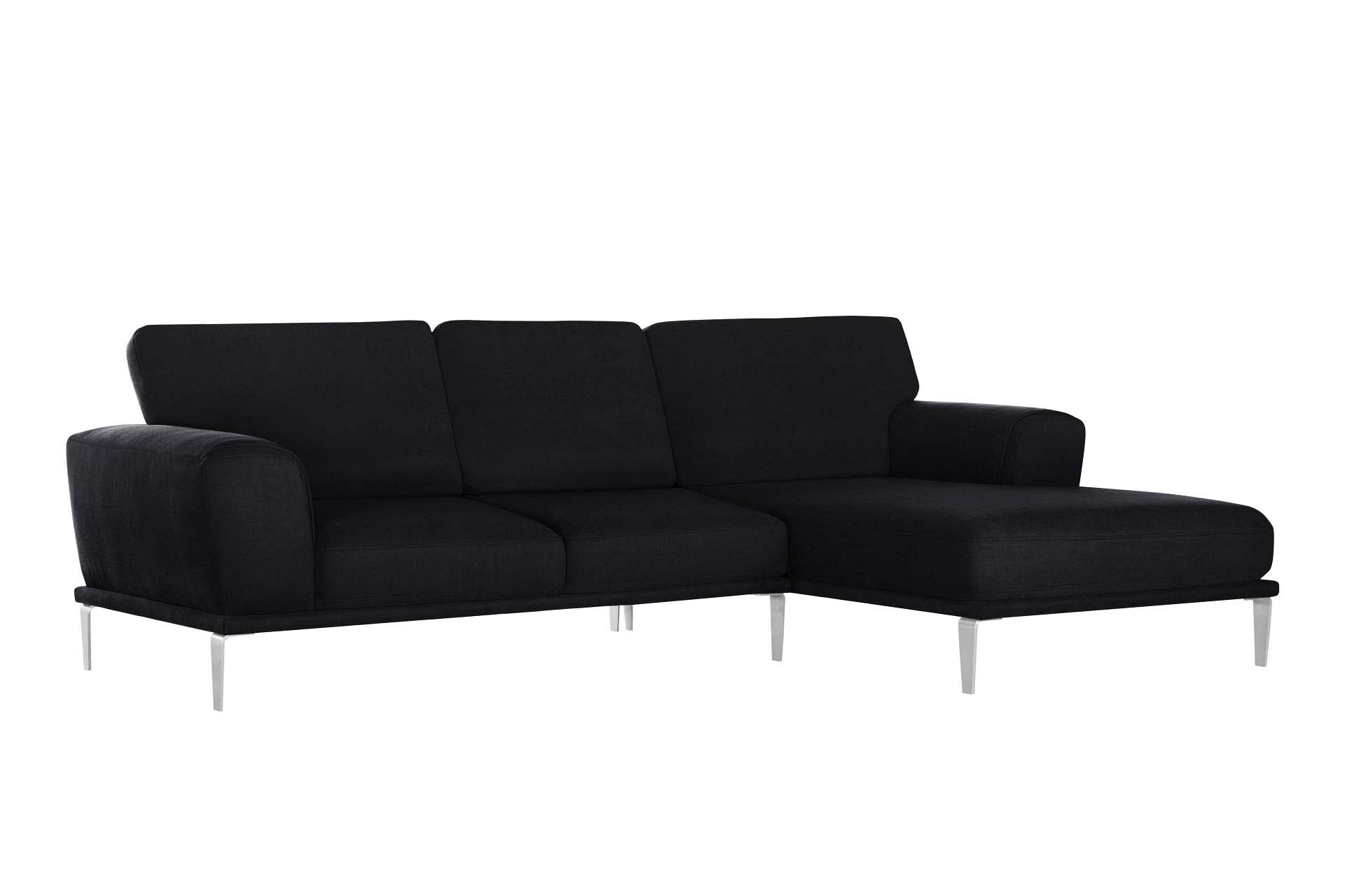 Canapé d'angle 5 places Noir Luxe Design