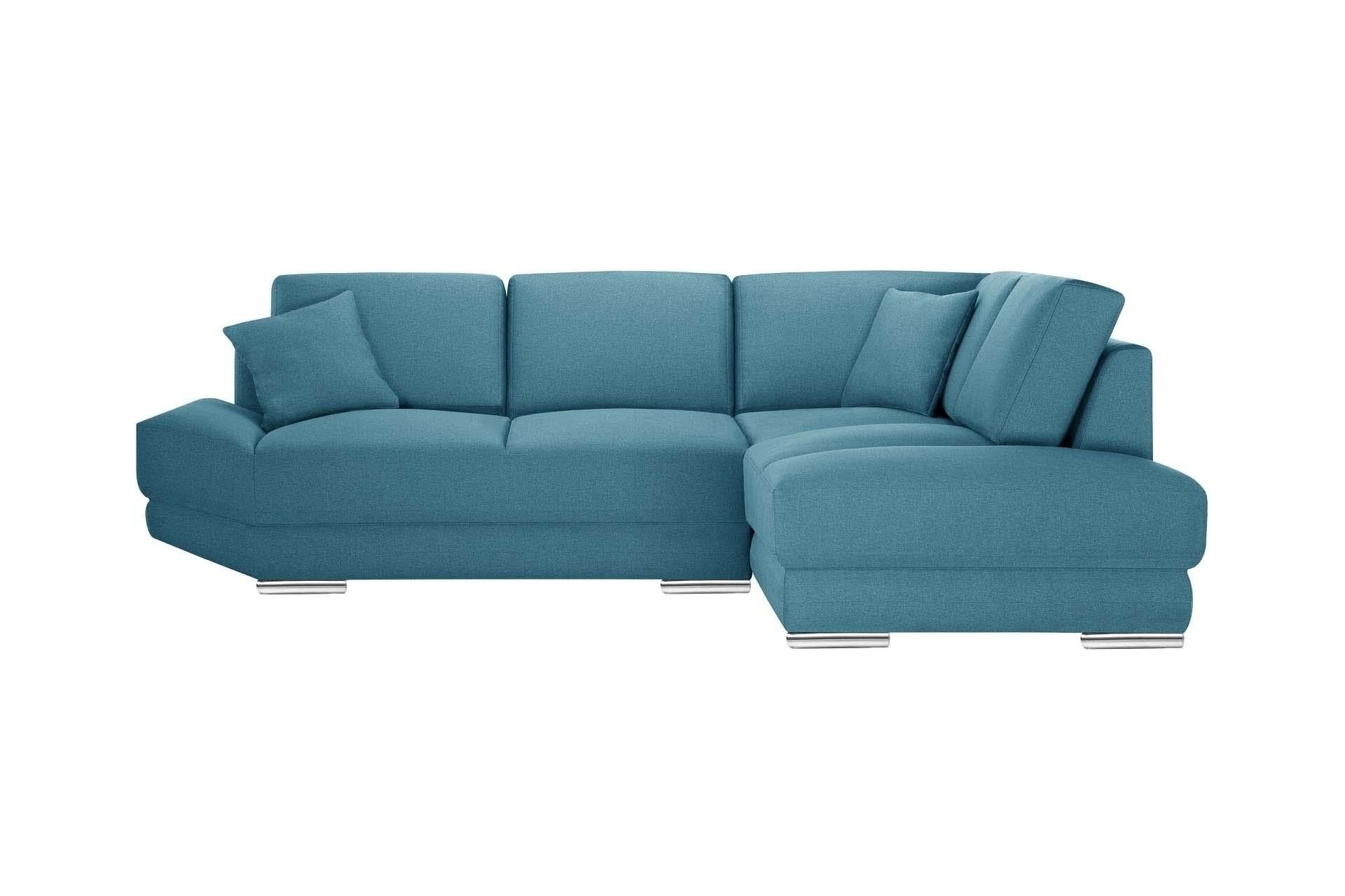 Canapé d'angle 5 places Bleu Tissu