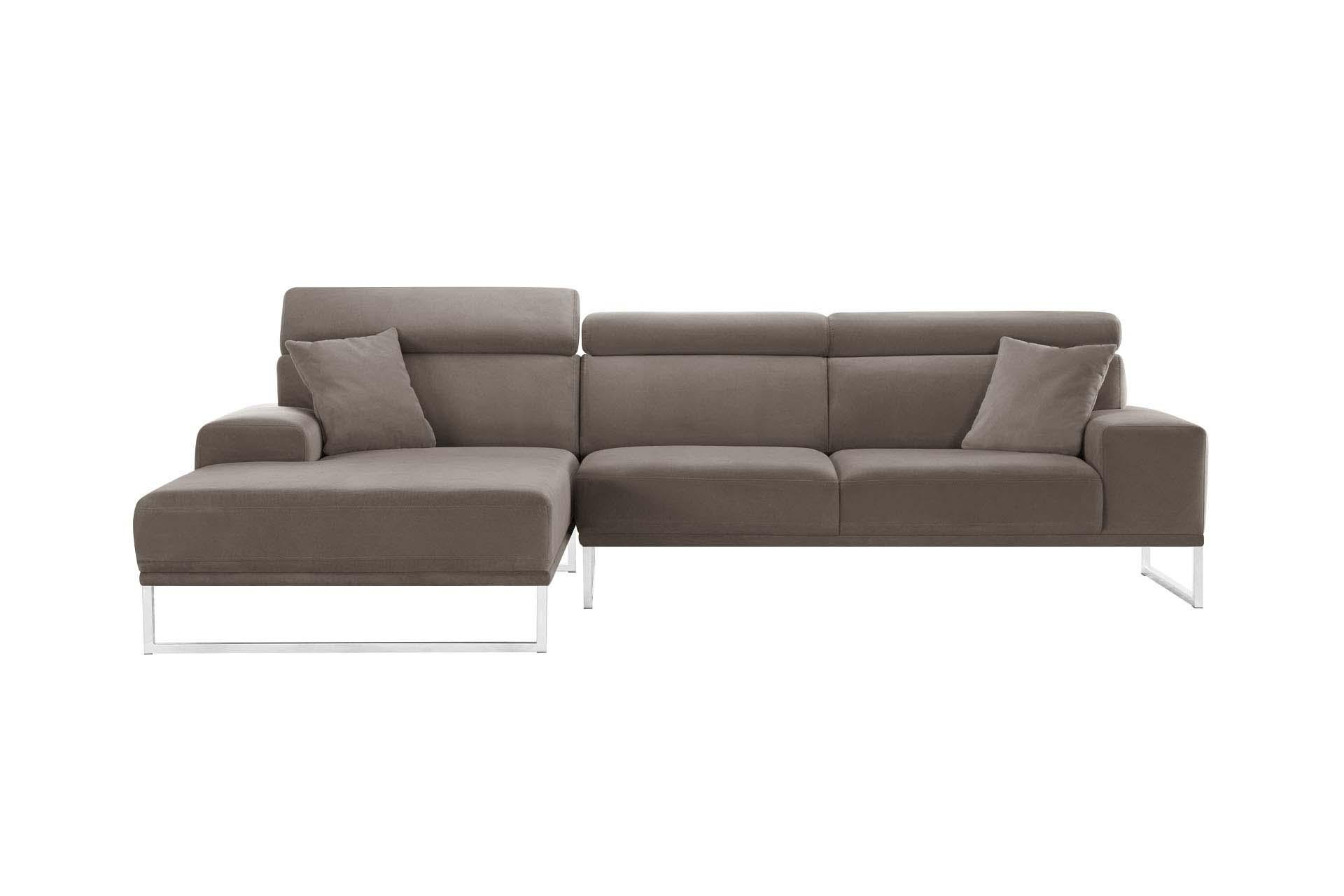 Canapé d'angle 5 places Velours Luxe Confort