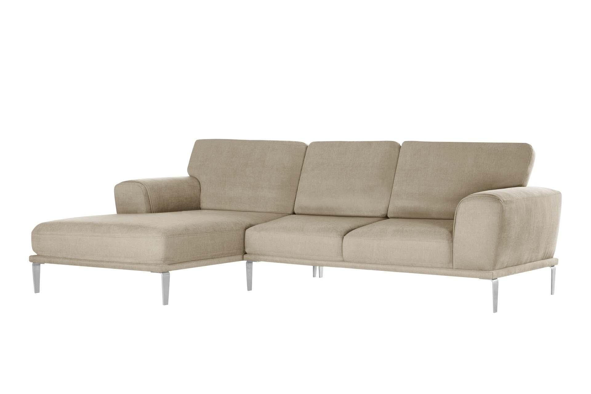Canapé d'angle 5 places Beige Luxe Design