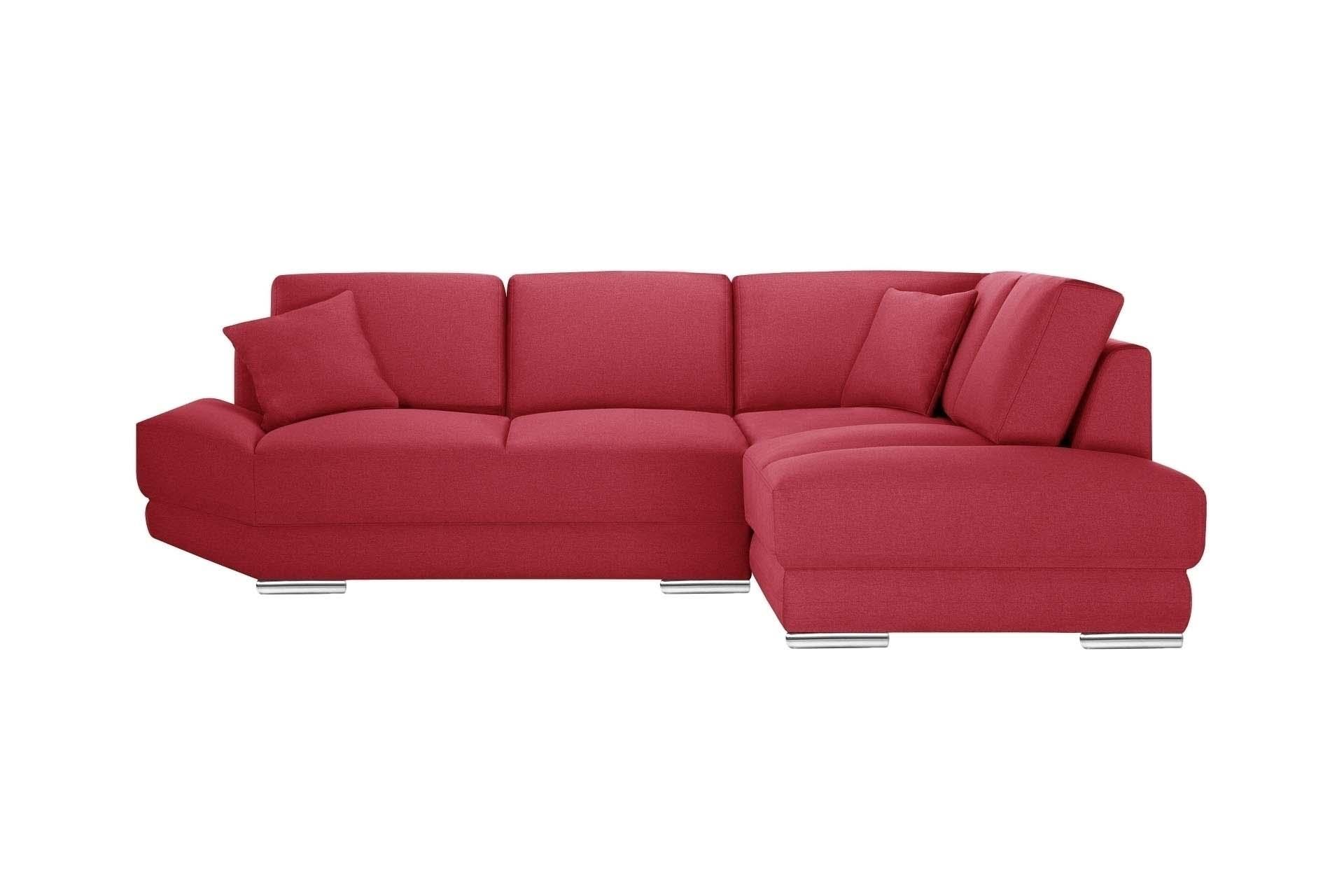 Canapé d'angle 5 places Rouge Tissu