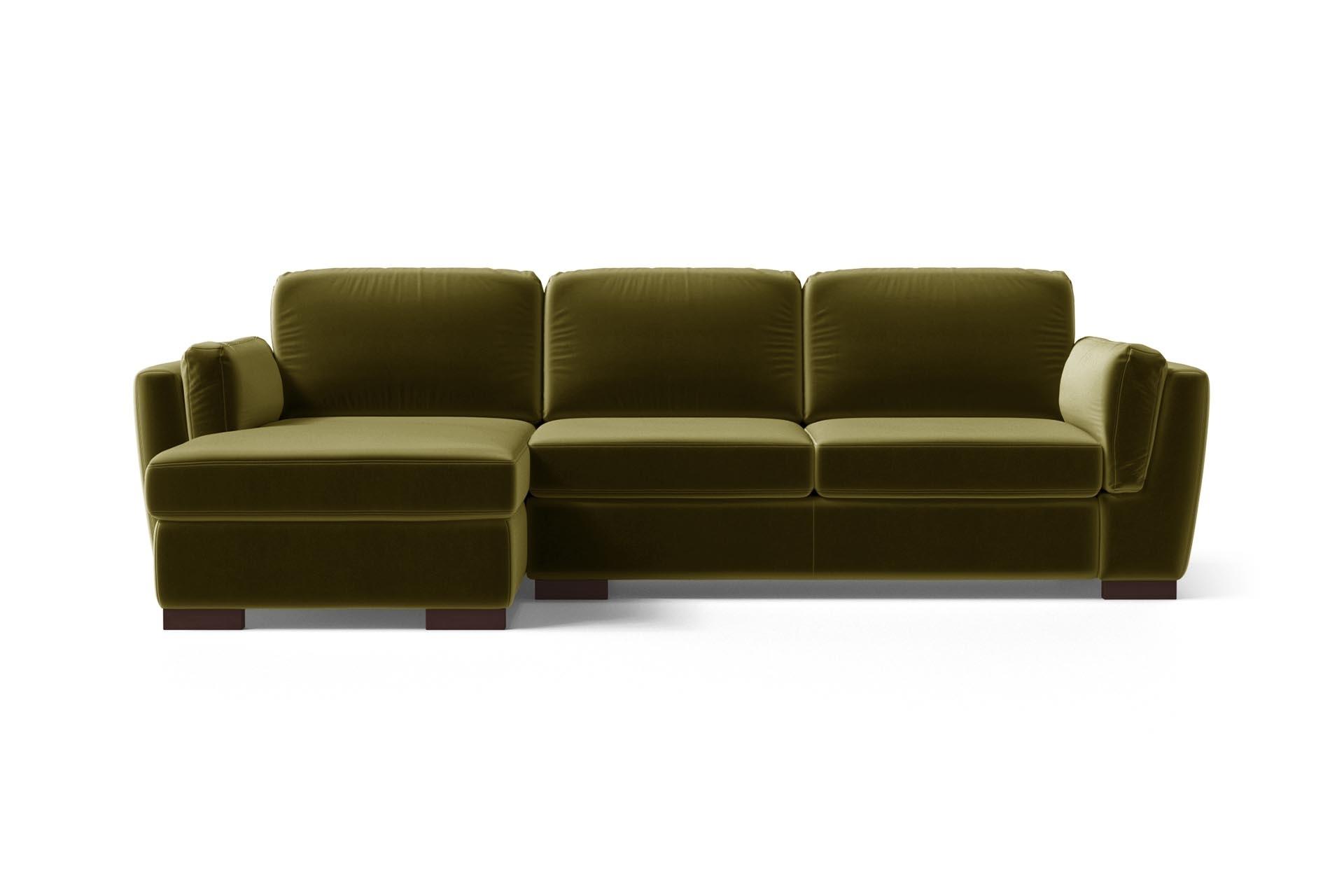 Canapé d'angle 4 places Velours Luxe Design Vert