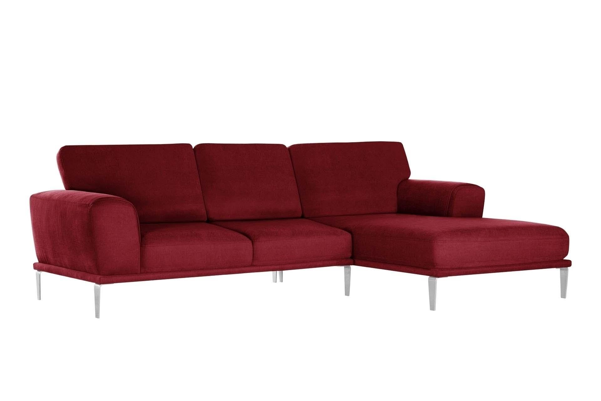 Canapé d'angle 5 places Rouge Luxe Design