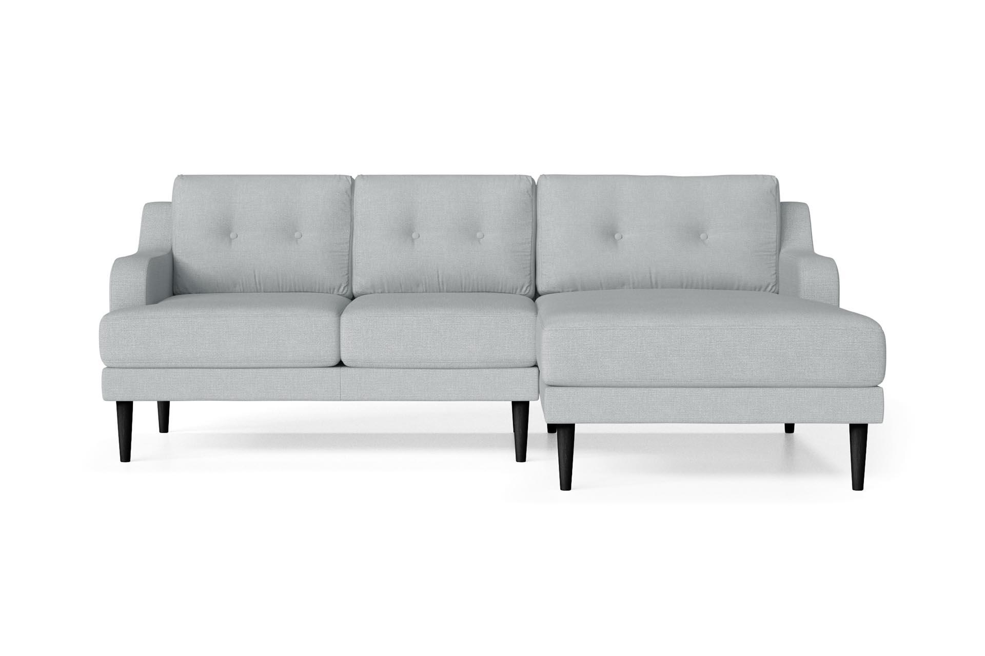 Canapé d'angle 4 places Bleu Contemporain Confort