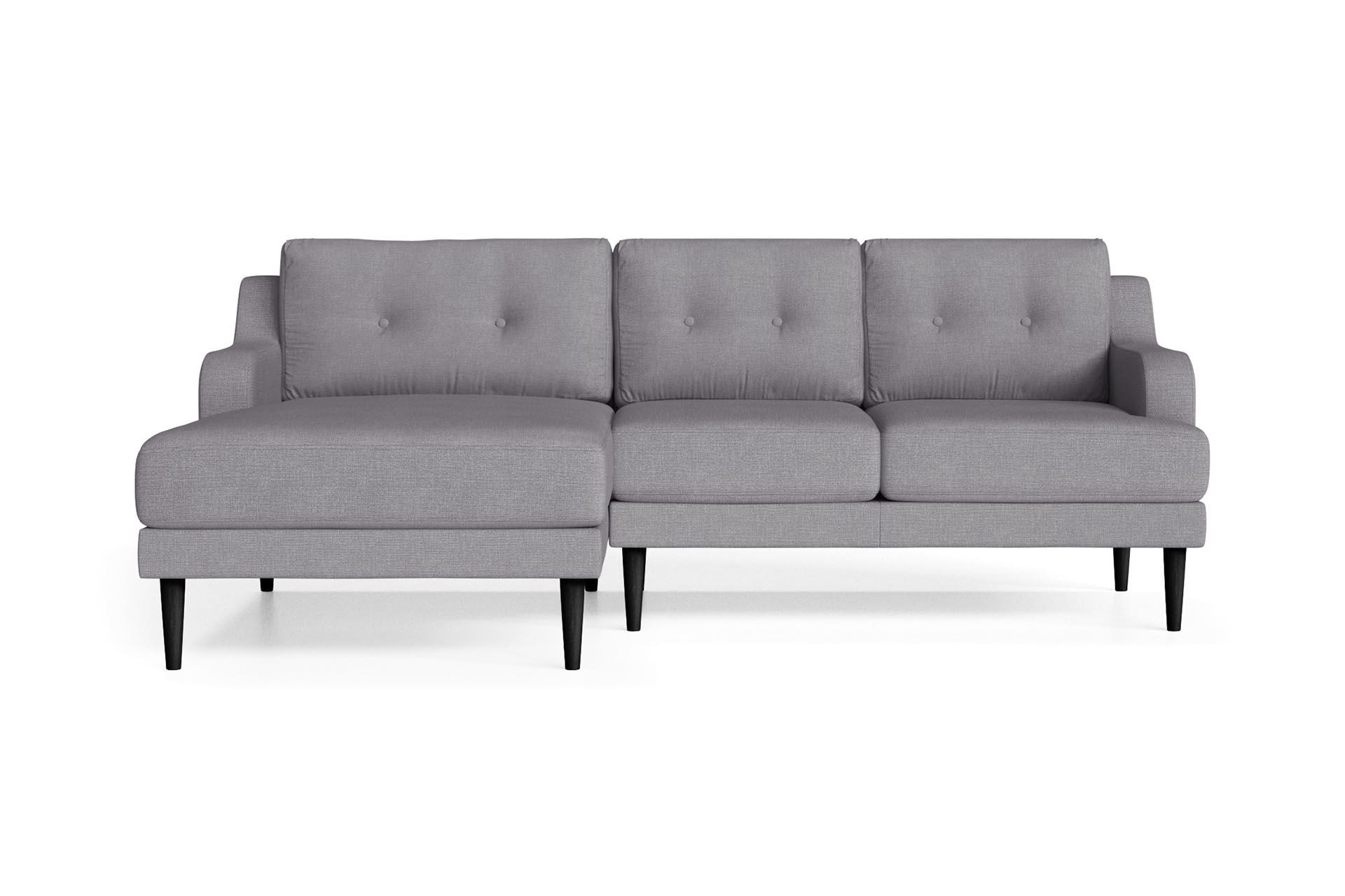 Canapé d'angle 4 places Gris Contemporain Confort