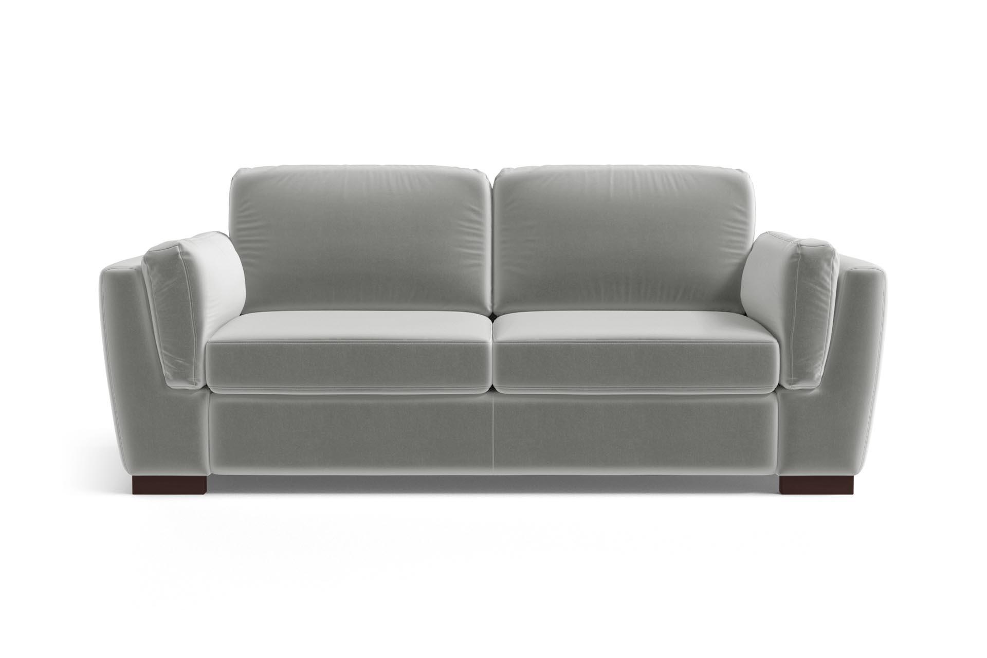 Canapé 2 places en velours gris clair