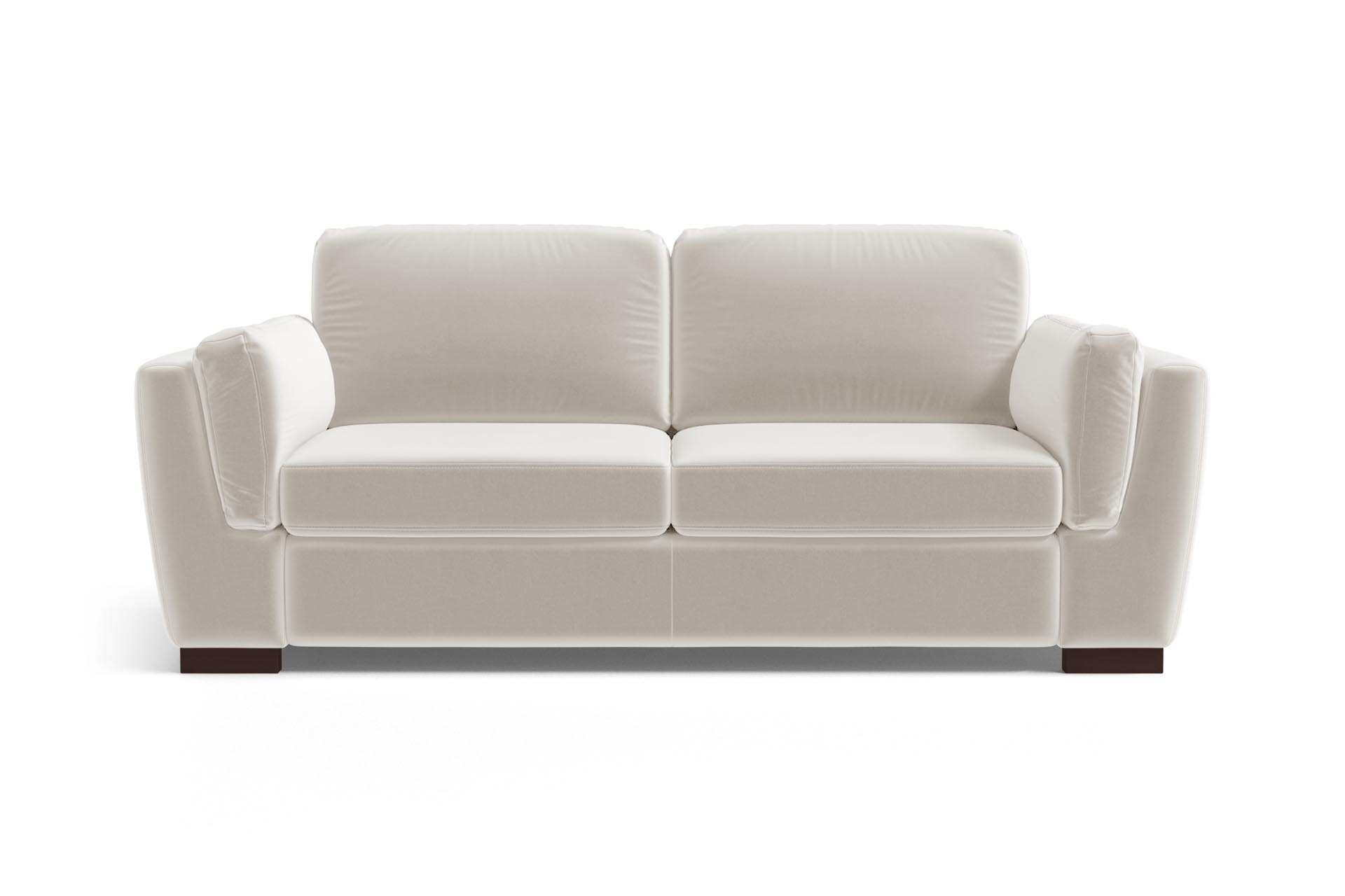 Canapé 2 places en velours blanc cassé