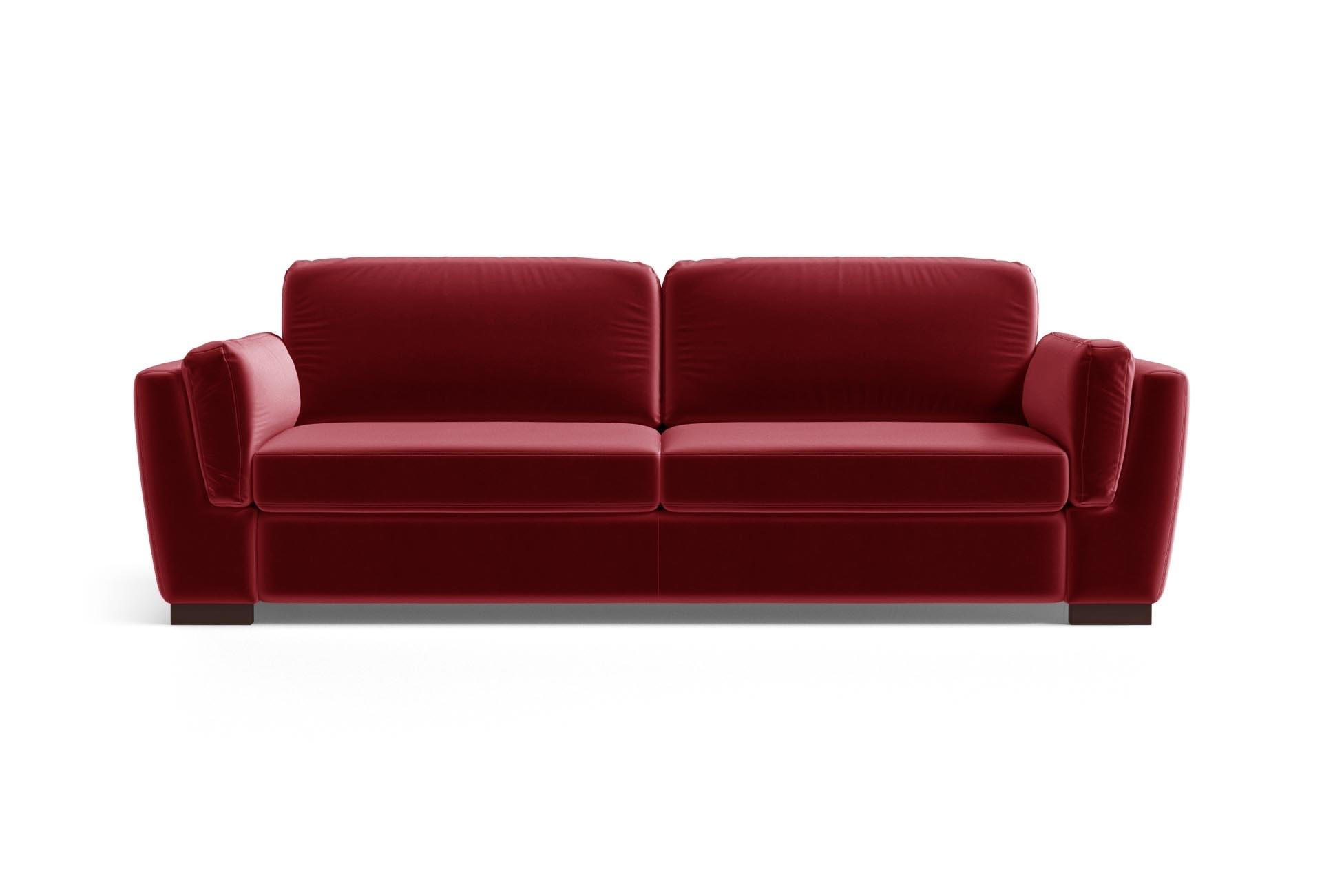 Canapé 3 places en velours rouge