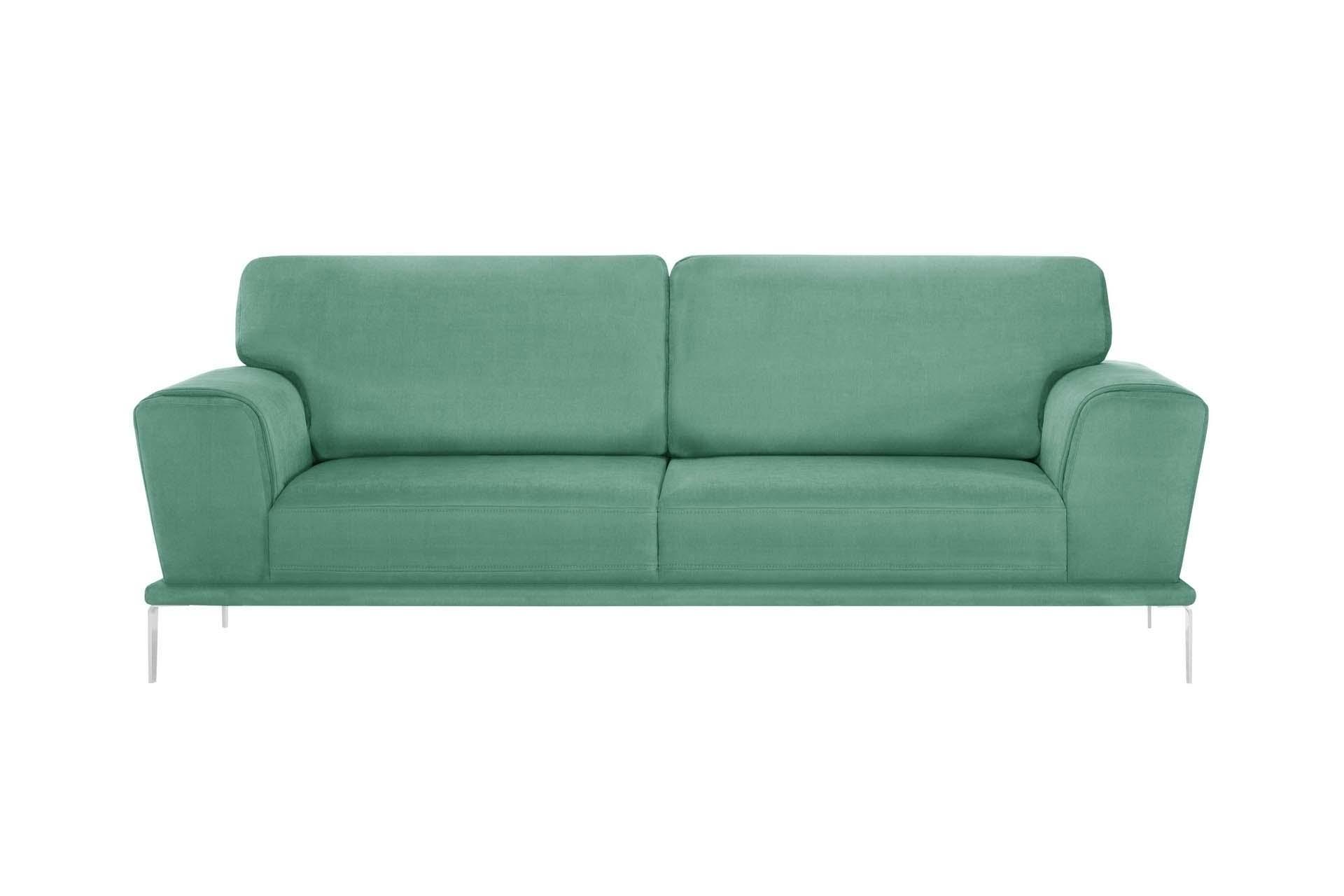 Canapé 3 places toucher coton menthe